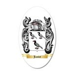 Jantet 20x12 Oval Wall Decal