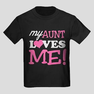 my aunt loves me Kids Dark T-Shirt