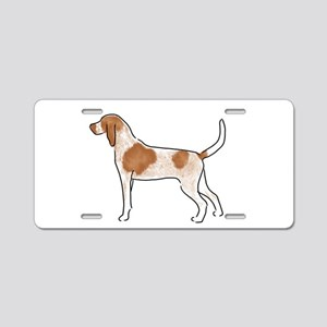 american english coonhound Aluminum License Plate