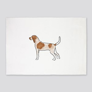 american english coonhound 5'x7'Area Rug