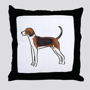 american foxhound Throw Pillow