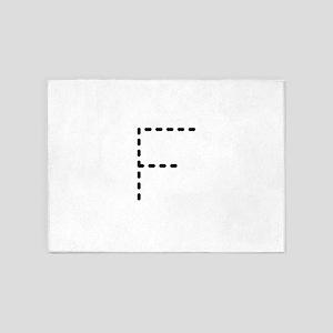 f monogram 5'x7'Area Rug