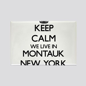 Keep calm we live in Montauk New York Magnets