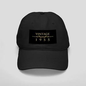 Vintage 1955 Birth Year Black Cap