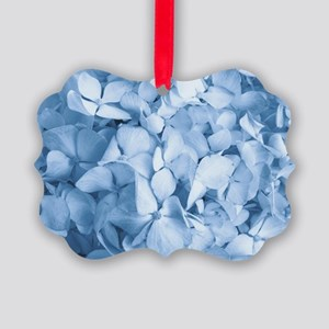 Hydrangea Flower Picture Ornament