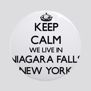 Keep calm we live in Niagara Fall Ornament (Round)