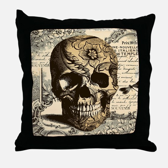 Unique Skull Throw Pillow