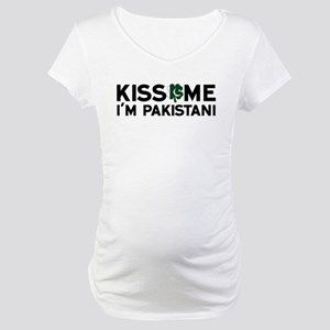 Kiss Me I'm Pakistani Maternity T-Shirt