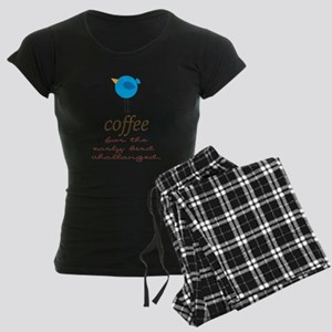 Blue Early Bird Coffee Funny Pajamas