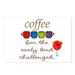 Coffee Early Bird Funny Postcards (Package of 8)