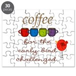 Coffee Early Bird Funny Puzzle