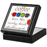 Coffee Early Bird Funny Keepsake Box