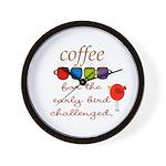 Coffee Early Bird Funny Wall Clock