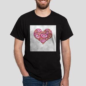 Heart of Donuts Ash Grey T-Shirt