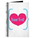Personalizable Pink Turquoise Heart Journal