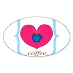Pink Turquoise Coffee Love Sticker