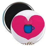 Pink Turquoise Coffee Love Magnets