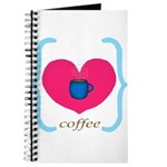 Pink Turquoise Coffee Love Journal