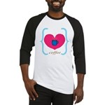 Pink Turquoise Coffee Love Baseball Jersey