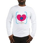 Pink Turquoise Coffee Love Long Sleeve T-Shirt
