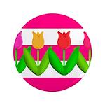 Tulips on Pink & White Stripes 3.5