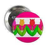 Tulips on Pink & White Stripes 2.25