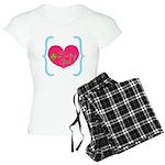 Lucky Girl Heart Shamrock Pajamas