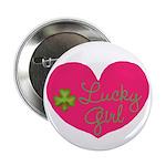 Lucky Girl Heart Shamrock 2.25
