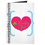 Lucky Girl Heart Shamrock Journal