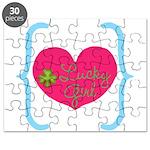 Lucky Girl Heart Shamrock Puzzle
