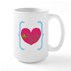 Lucky Girl Heart Shamrock Mugs