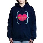 Lucky Girl Heart Shamrock Women's Hooded Sweatshir