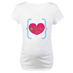 Lucky Girl Heart Shamrock Shirt