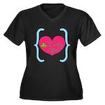 Lucky Girl Heart Shamrock Plus Size T-Shirt