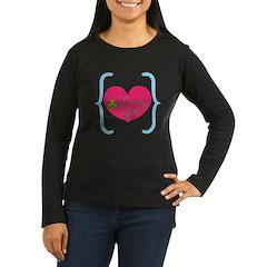 Lucky Girl Heart Shamrock Long Sleeve T-Shirt