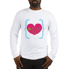 Lucky Girl Heart Shamrock Long Sleeve T-Shirt