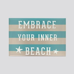 KiniArt Inner Beach Rectangle Magnet