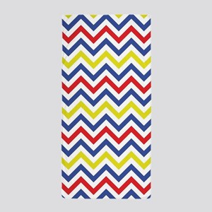 Red, Blue, and Yellow Chevron Pattern Beach Towel
