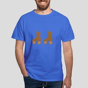 Brown Roller Skates Dark T-Shirt