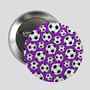 "Purple Soccer Ball Pattern 2.25"" Button (10 pack)"