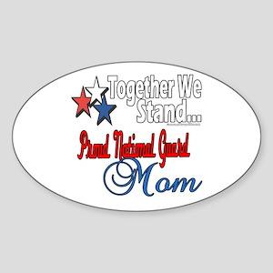 National Guard Mom Oval Sticker