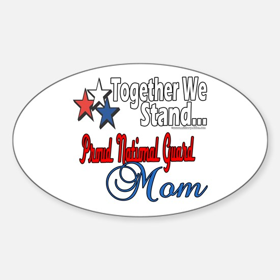 National Guard Mom Oval Decal
