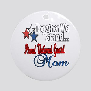 National Guard Mom Ornament (Round)