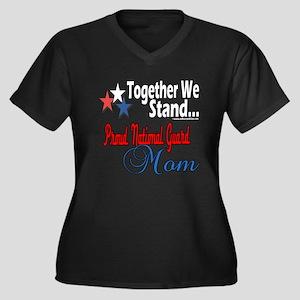 National Guard Mom Women's Plus Size V-Neck Dark T