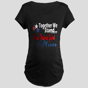 National Guard Mom Maternity Dark T-Shirt