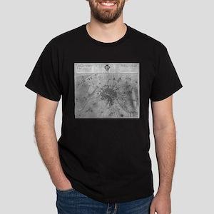Paris map 1735 T-Shirt