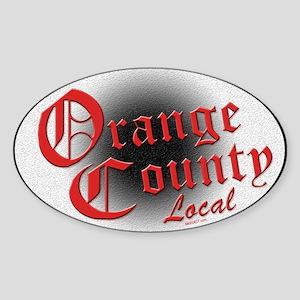 Orange County Local Oval Sticker