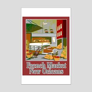 French Market Mini Poster Print