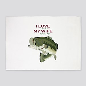 I Love My Wife 5'x7'Area Rug