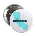 "2.25"" Button (100 CT) True Blue California LIBERAL"